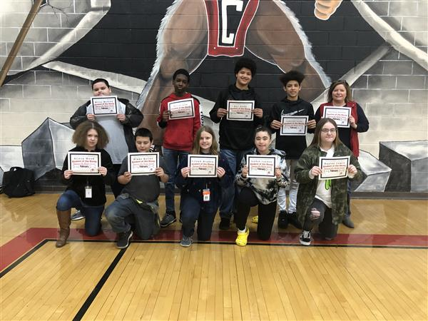 February Students and Teacher of the Month
