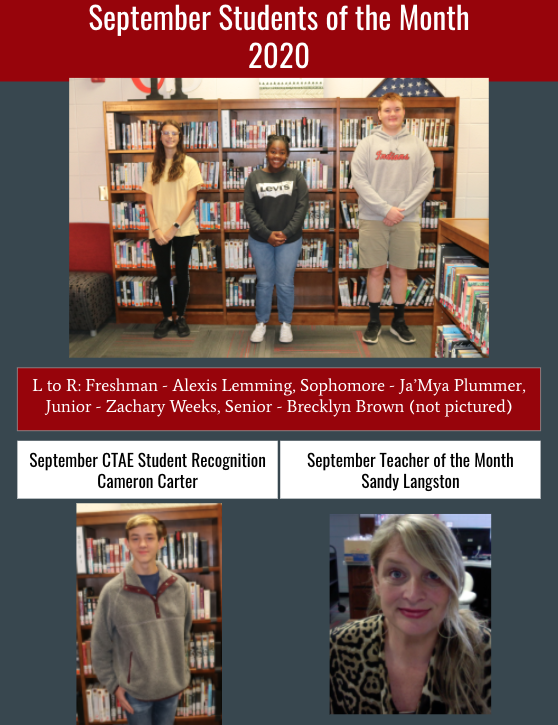 September Student & Teacher Recognition