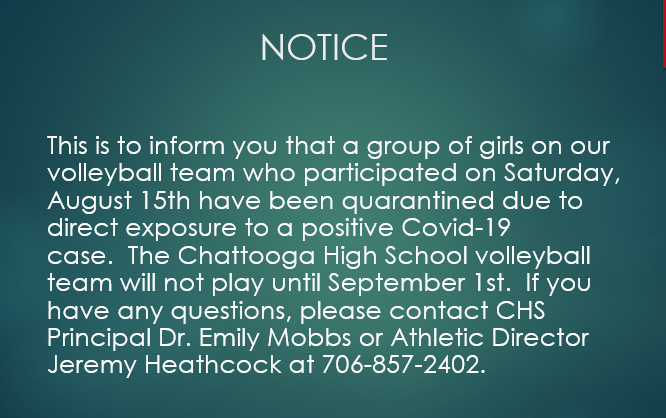 Volleyball Notice
